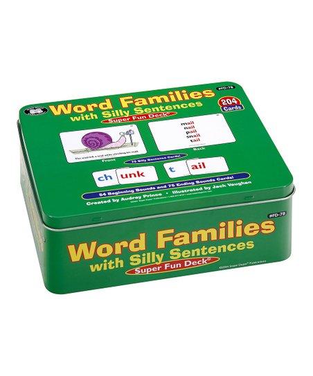 Super Duper Publications Silly Sentences Word Families Super Fun Card Set