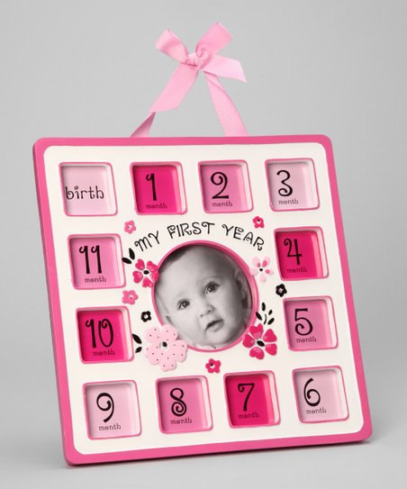 Pink Ribbon Flower 12 Month Frame Zulily