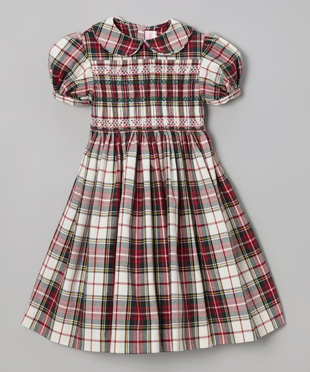 2f5165bfcb9d love this product Red & Green Plaid Smocked Holiday Dress - Infant, Toddler  & Girls