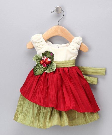 016e0776b4e love this product Cream   Red Velvet Dress - Infant