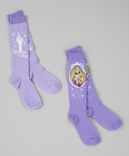 fd085bc64b1 love this product Purple Princess Knee-High Socks Set - Girls