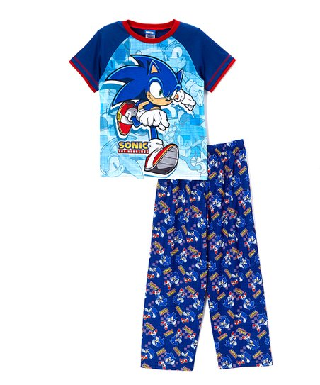 5551d88c764c love this product Blue  Sonic the Hedgehog  Pajama Set - Boys