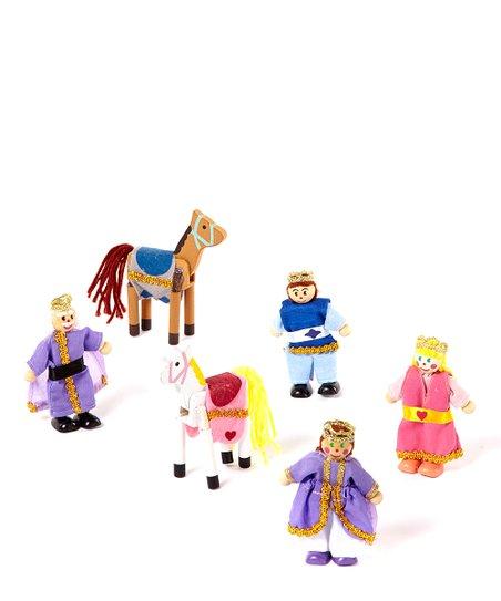 Melissa Doug Royal Family Wooden Doll Set