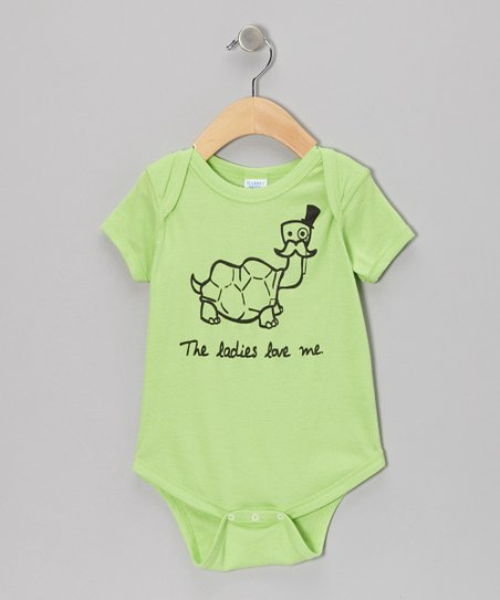 7079cce7d love this product Lime Green 'Ladies Love Me' Bodysuit - Infant