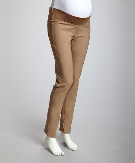pretty and colorful how to get special price for Dark Khaki Under-Belly Maternity Skinny Pants - Women