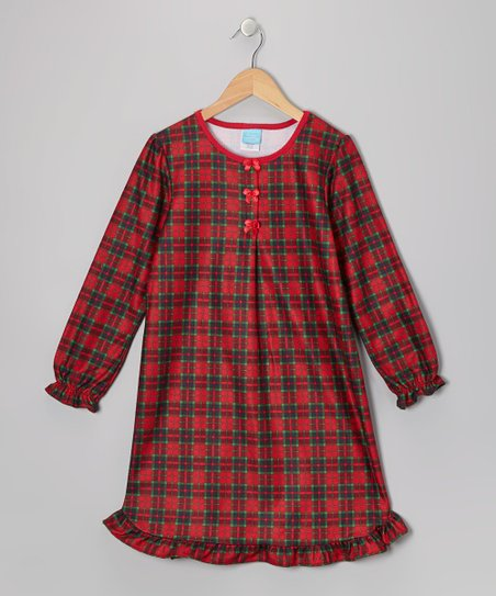 Candlesticks Red Plaid Flannel Nightgown Toddler Girls Zulily
