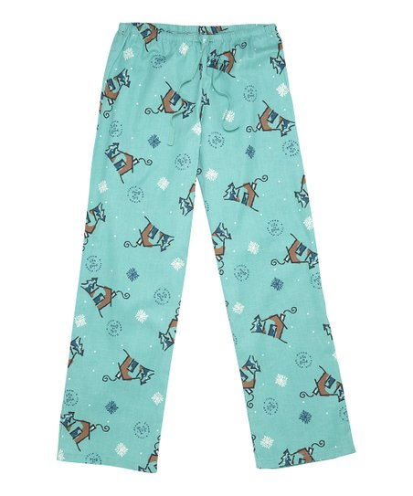 love this product Peacock Green Winter Cabin Flannel Pajama Pants - Women 8c6764cba