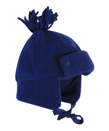 love this product Navy Fleece Pom-Pom Trapper Hat - Infant   Boys 1a046c889ef