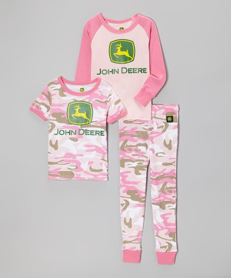 24c9c5e86c66 John Deere Pink Camo Pajama Set - Infant