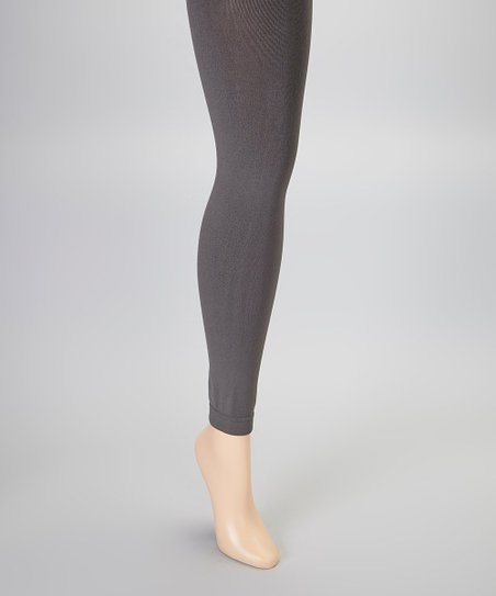 80ca99880750a MeMoi Gray Fleece-Lined Footless Tights   Zulily