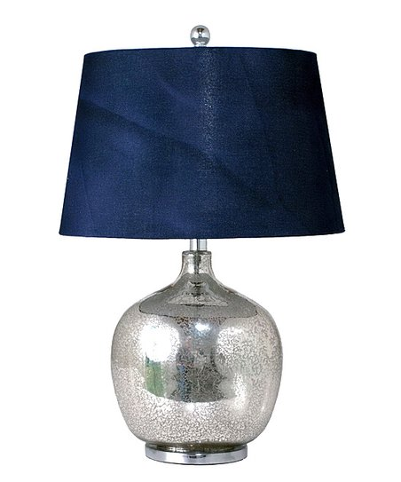 Navy Blue Mercury Glass Table Lamp Zulily