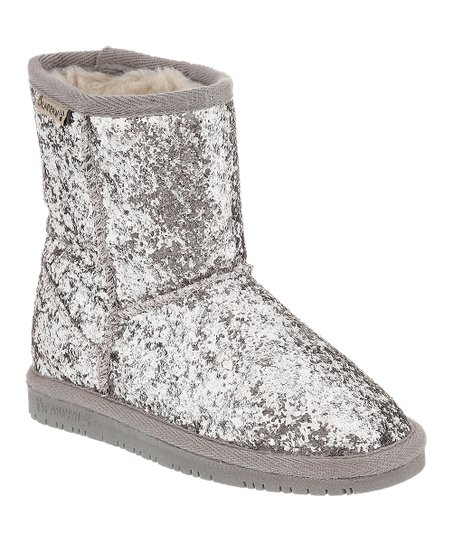 BEARPAW Silver Glitter Cheri Boot