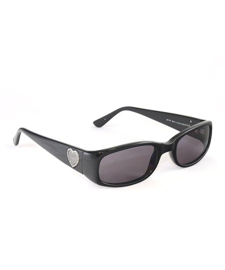 20c0f7a6ab5cd GUESS Black Heart Rectangular Sunglasses - Women