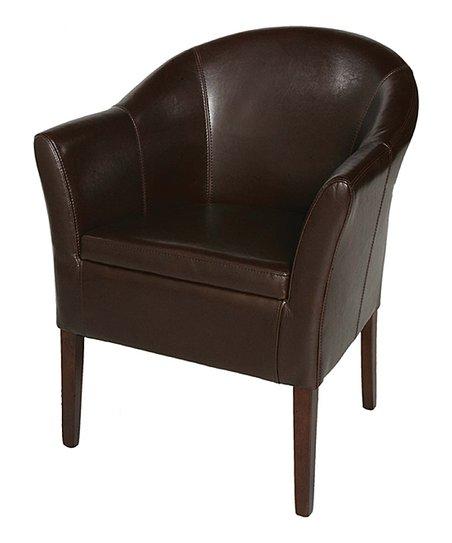 Enjoyable Meva Brown Leather Tub Chair Creativecarmelina Interior Chair Design Creativecarmelinacom