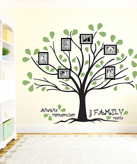 WALL STICKER LAMP Black   Olive Family Roots Frame   Wall Decal Set ... adc98889c