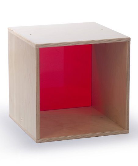 Whitney Brothers Red Cube Storage Block