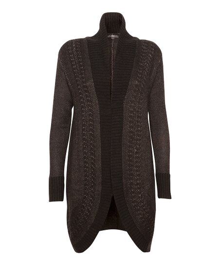 EMU Australia Black Sheffield Wrap Merino Wool Jacket - Women