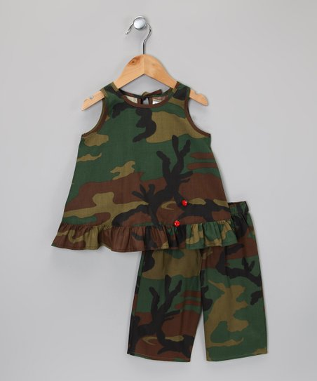 4bfe950bb7241 love this product Green & Brown Camo Tunic & Bike Shorts - Infant, Toddler  & Girls