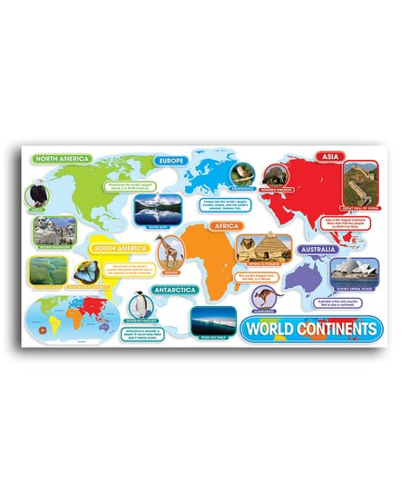 Scholastic Teaching Resources World Continents Bulletin ...