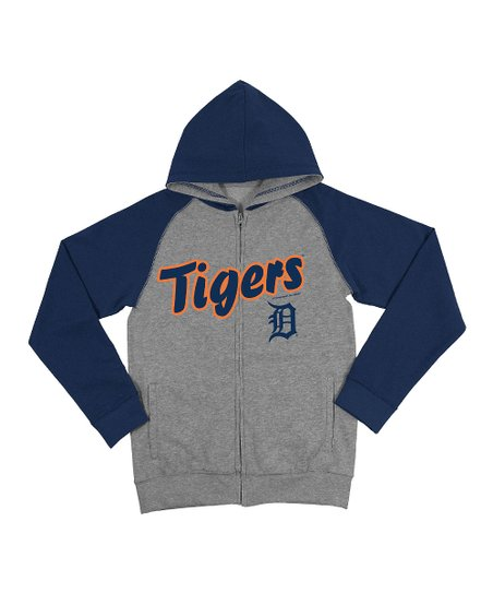 huge discount 9a28d 39589 Majestic MLB Steel Detroit Tigers Raglan Zip-Up Hoodie - Toddler & Kids