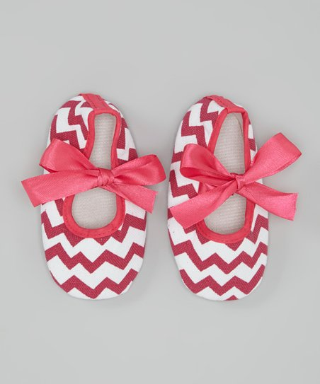 8dd011d1ea84 Tutus by Tutu and Lulu Hot Pink Chevron Mary Jane Booties