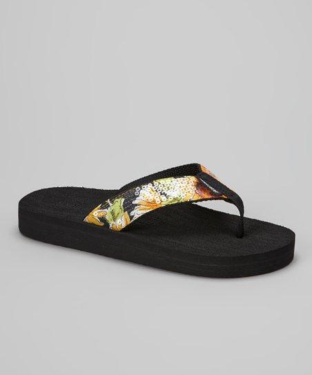 61baf3916 Tidewater Sandals Yellow Sunflower Flip-Flop