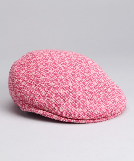 Kangol Bubble Gum Pink Square Newsboy Cap  dc865c96ef5