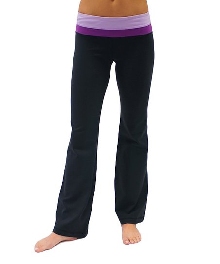 23007b277cebb Glyder Apparel Black & Plum Balance Yoga Pants | Zulily