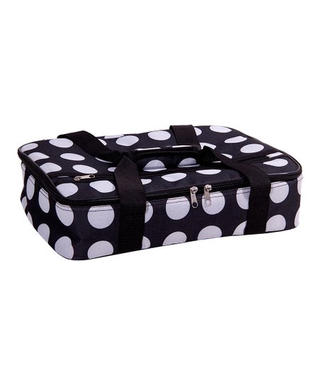 Home Essentials and Beyond Black & White Dot Casserole Carrier