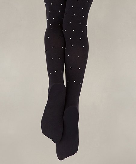 e7bfe937d3278 Capezio Black Rhinestone Tights - Girls | Zulily