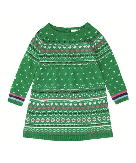 4675968c705 love this product Green Fair Isle Sweater Dress - Infant