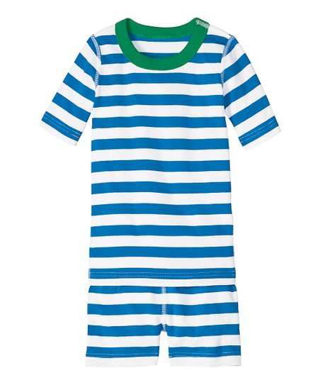 e8d038ea3 Hanna Andersson Blue   White Stripe Organic Pajama Set - Infant ...
