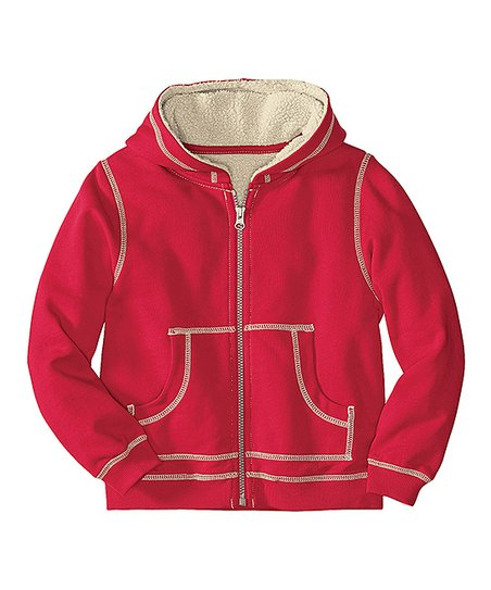 d836371e3 Hanna Andersson Apple Red Fleece Zip-Up Hoodie - Infant, Toddler & Boys