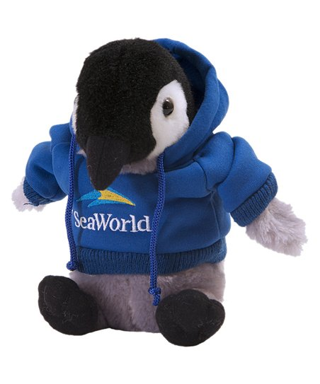 Seaworld Blue Hoodie Penguin Plush Toy Zulily