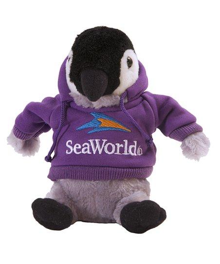 Seaworld Purple Hoodie Penguin Plush Toy Zulily