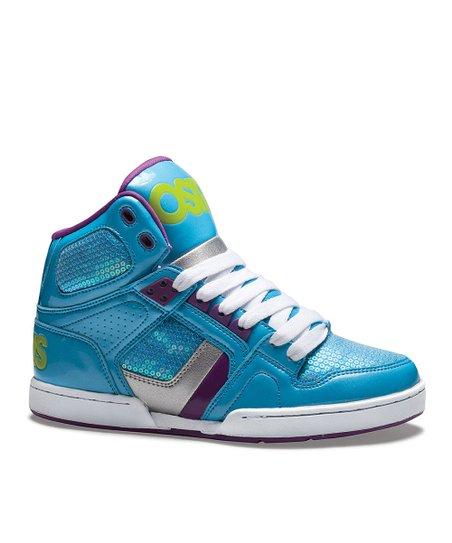 c16c16da4a859c Osiris Shoes Blue   Lime NYC 83 Slim Sneaker - Kids