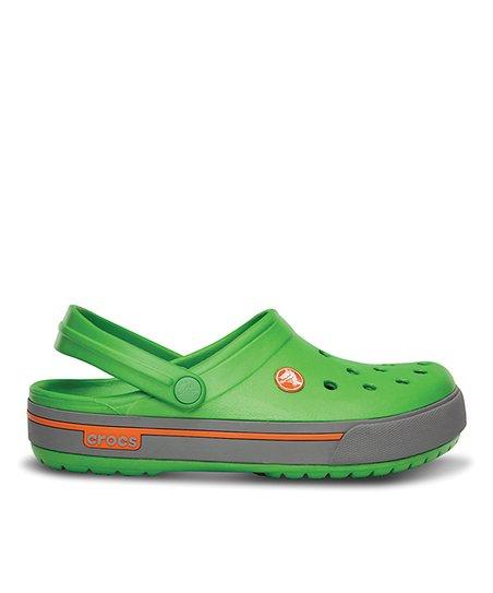 cf5f60032359aa Crocs Lime Green   Light Gray Crocband™ 2.5 Clog - Unisex