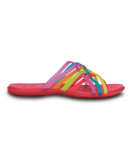 8a5f466cdb6e love this product Raspberry   Rainbow Huarache Flip-Flop - Women