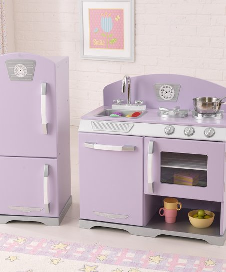 KidKraft Lavender Stove & Refrigerator Retro Kitchen Set