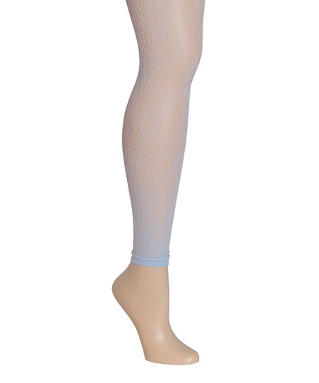 ae048aff4 MeMoi Light Blue Lace Footless Tights - Women