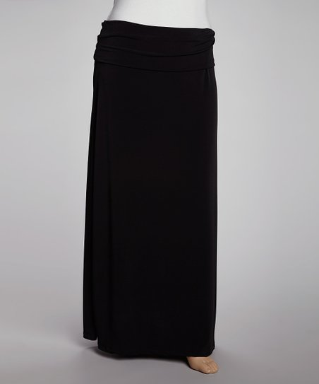 25330f4c7b love this product Black Fold-Over Maxi Skirt - Plus