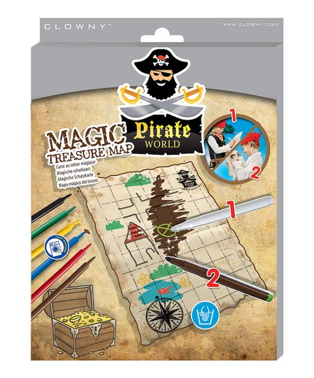 Pirate World Map.Ses Creative Pirate World Magic Treasure Map Zulily