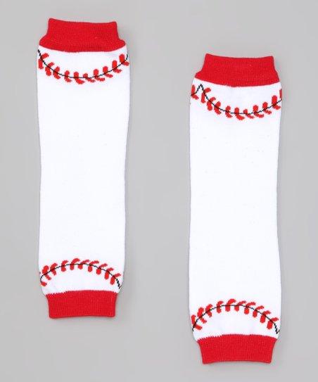872104768dee Miss Fancy Pants Red   White Baseball Leg Warmers