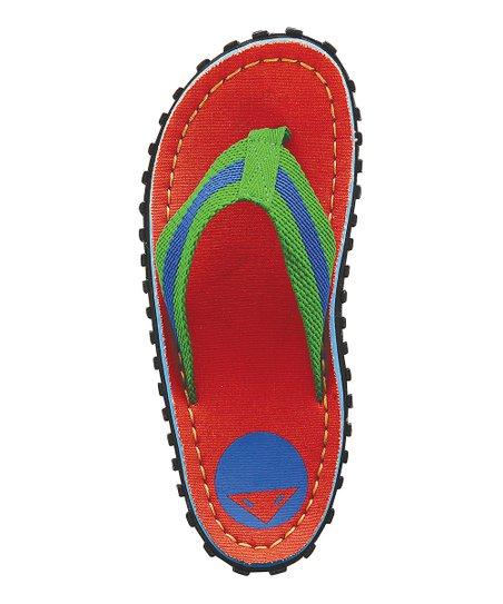 8ed4a72fb love this product Orange Phoenix Left-Foot Flip-Flop - Kids