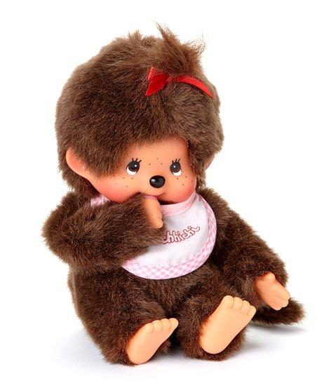 Pink Bib Girl Monchhichi Plush Toy