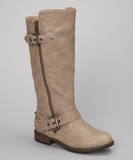 Bamboo Taupe Minion Quilted Boot Zulily