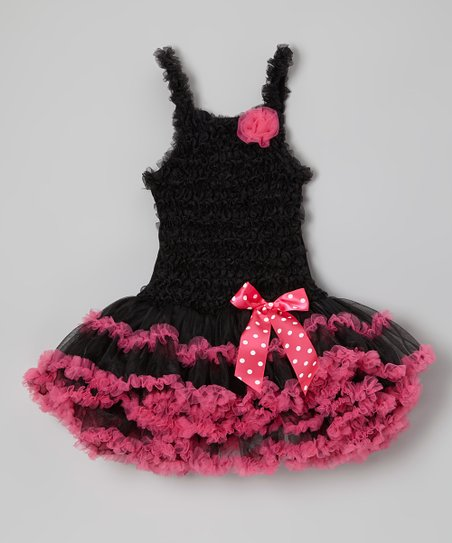 e6592dca39 Sparkle Adventure Black & Fuchsia Ruffle Tutu Dress | Zulily