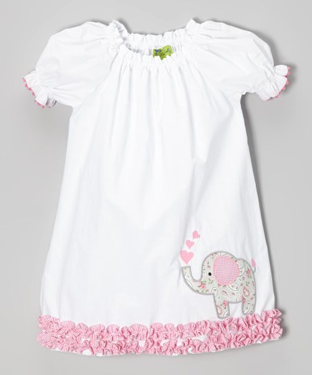 Girls Puff Sleeve Dress