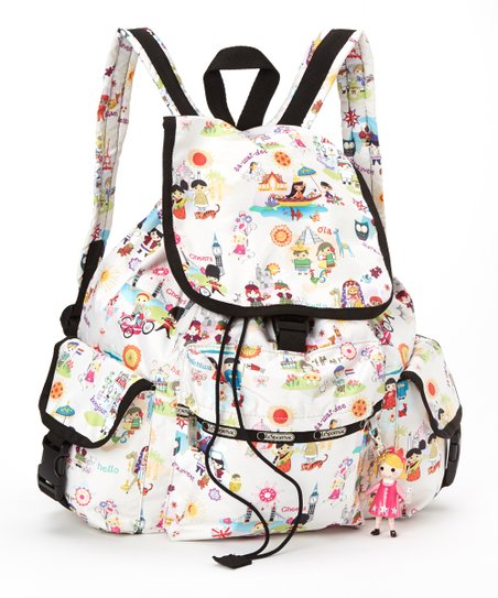 cce687624c9 love this product White Around the World Voyager Backpack   Charm