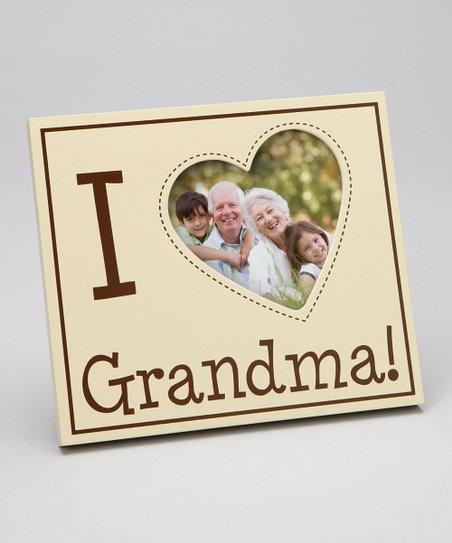 Pearhead Ivory I Love Grandma Heart Frame Zulily